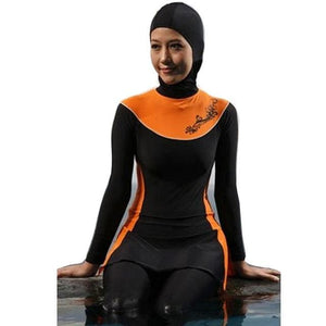 YONGSE Push Up Long Sleeve Plus Size Muslim Swimwear Modest Islamic Swim Wear Baiclothing Women Full.
