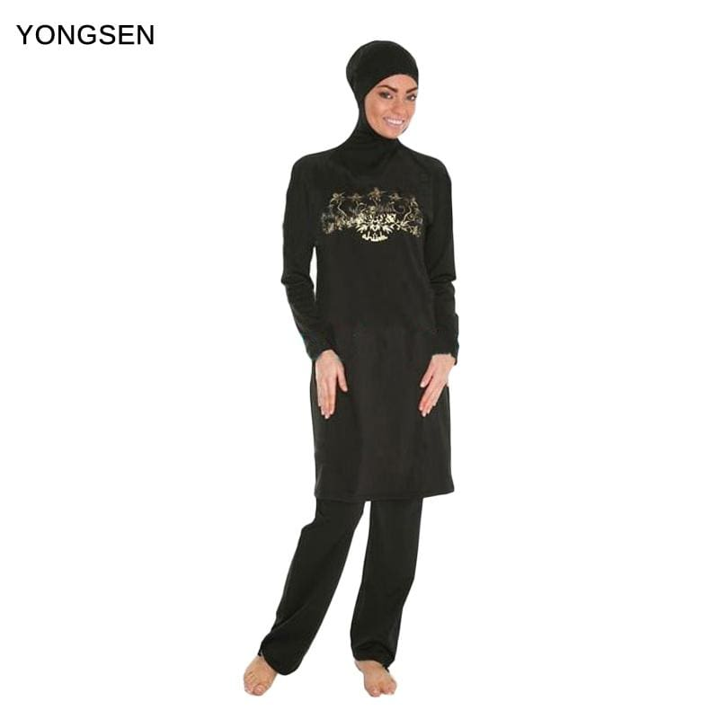 YONGSEN Muslim Swimwear Islamic Swimsuit For Women Hijab Burkinis Full Coverage Swimwear Muslim - MBMCITY