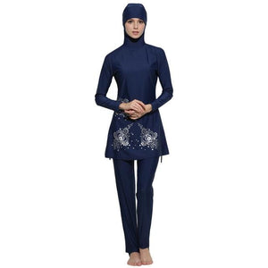 YONGSEN Muslim Swimwear Women Islamic Full Cover Floral Swim Suits Women Girls Muslim Female.