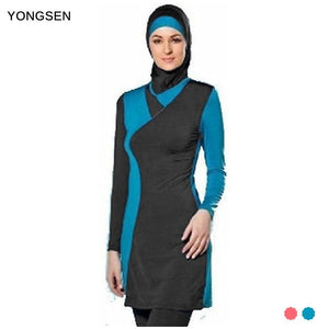 YONGSEN Muslim Women Spa Swimwear Islamic Swimsuit Full Face Hijab Swimming Beachwear Swimsuit Sport - MBMCITY