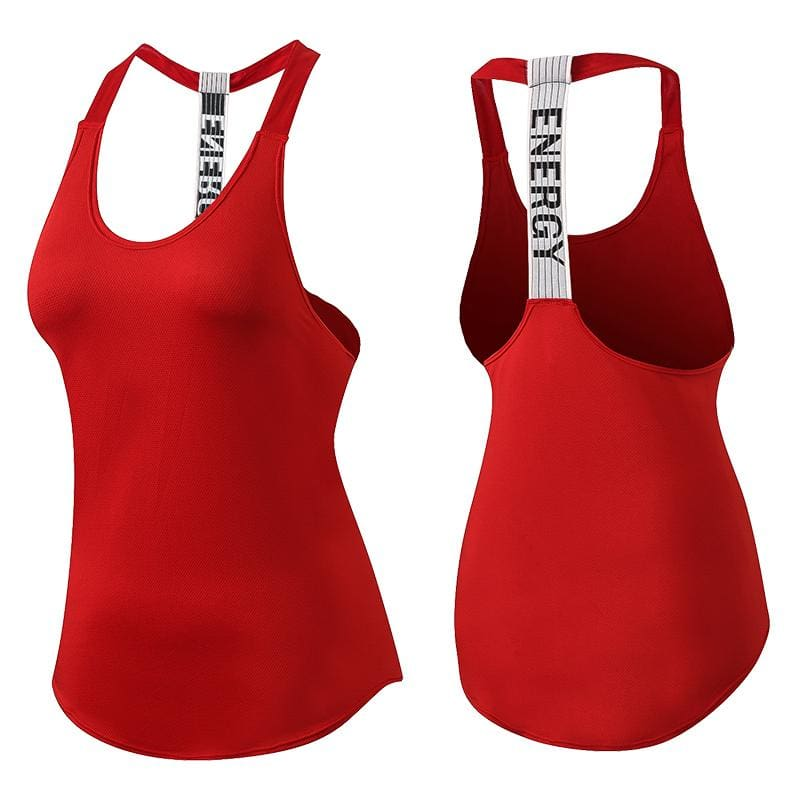 Yuerlian New Breathable Backless Yoga Vest Solid Quick Drying Running Gym Sport Yoga Shirt Women - MBMCITY