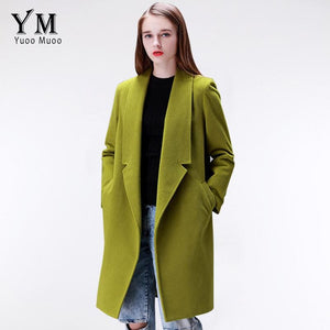 YuooMuoo Brand Design Winter Coat Women Warm Cotton-padded Wool Coat Long Womens Cashmere Coat