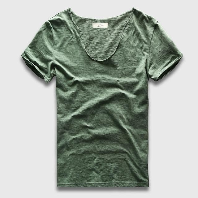 Zecmos Brand Men T-Shirt Plain Hip Hop Fashion Casual XXXL V Neck T Shirt Swag For Men Short Sleeve - MBMCITY