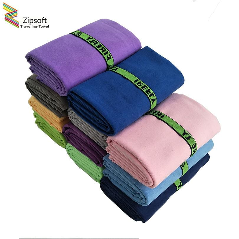 Zipsoft Microfiber Beach towels With Bandage Quick Drying Travel Sports Swim Gym Yoga Bath Adults - MBMCITY