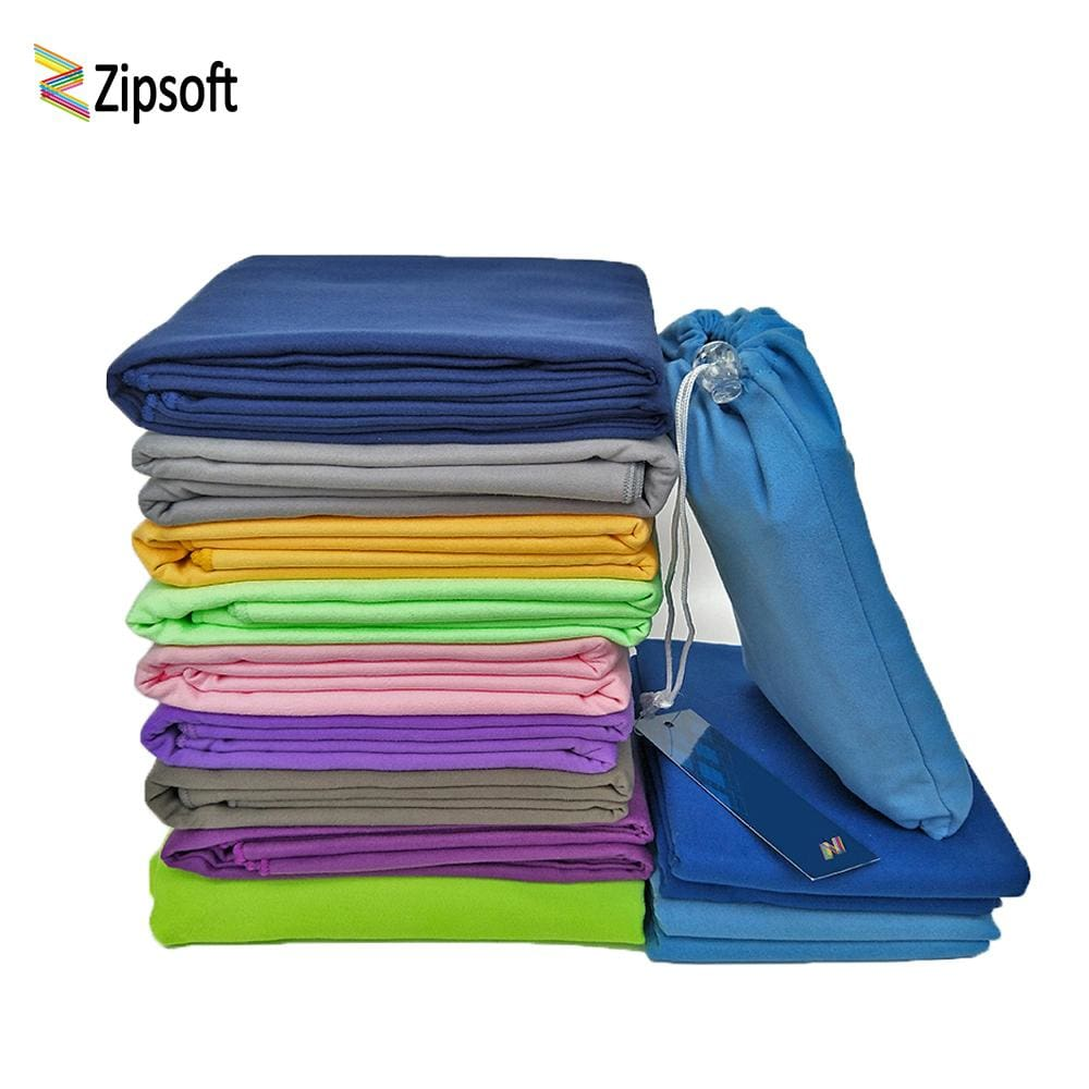 Zipsoft Microfiber Towels Beach towel Sports Bag Fast Drying Swimming Travel Gym Camping Lightweight - MBMCITY