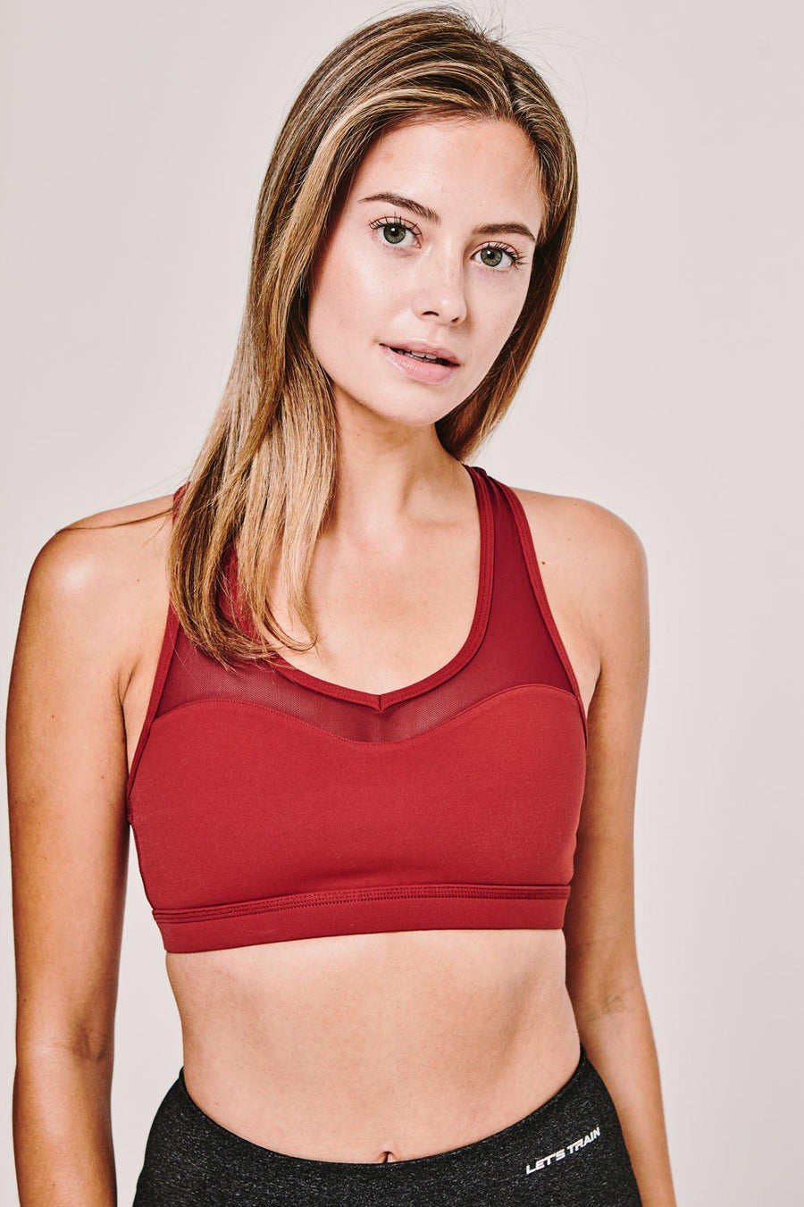 Sports Bra in Burgundy