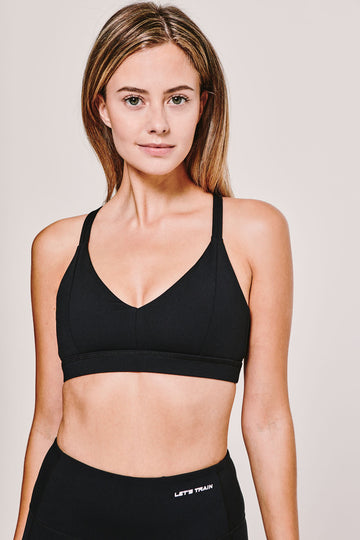 Amina Sports Bra in Black