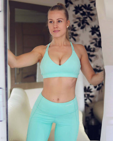 The Amina Sports Bra in Mint