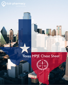 MPJE Cheat Sheet: Texas