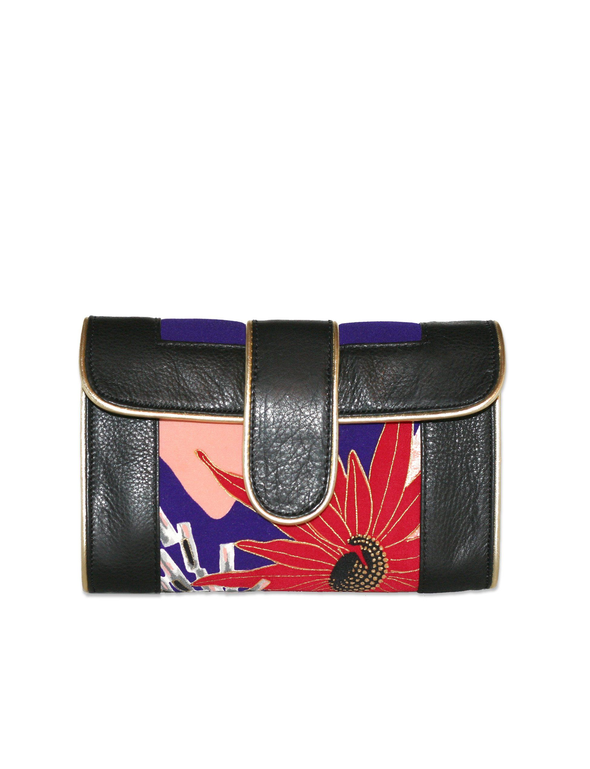 Hermosa Crossbody (Abstract Mum in black)