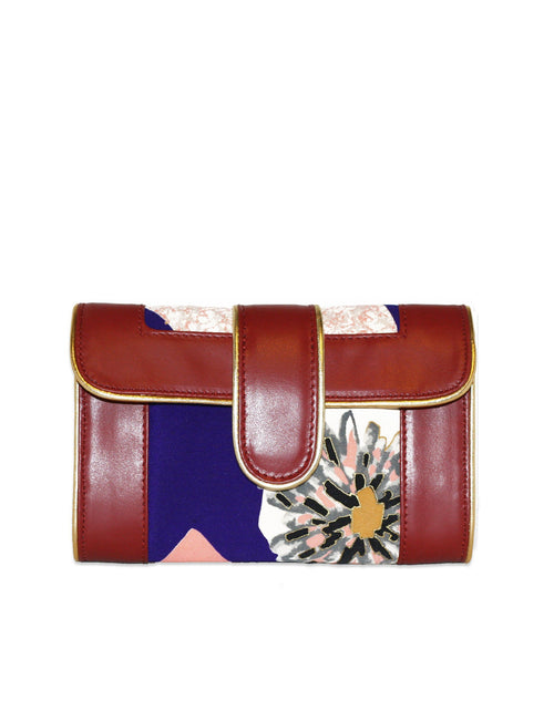 Hermosa Crossbody (Abstract Mum in red )