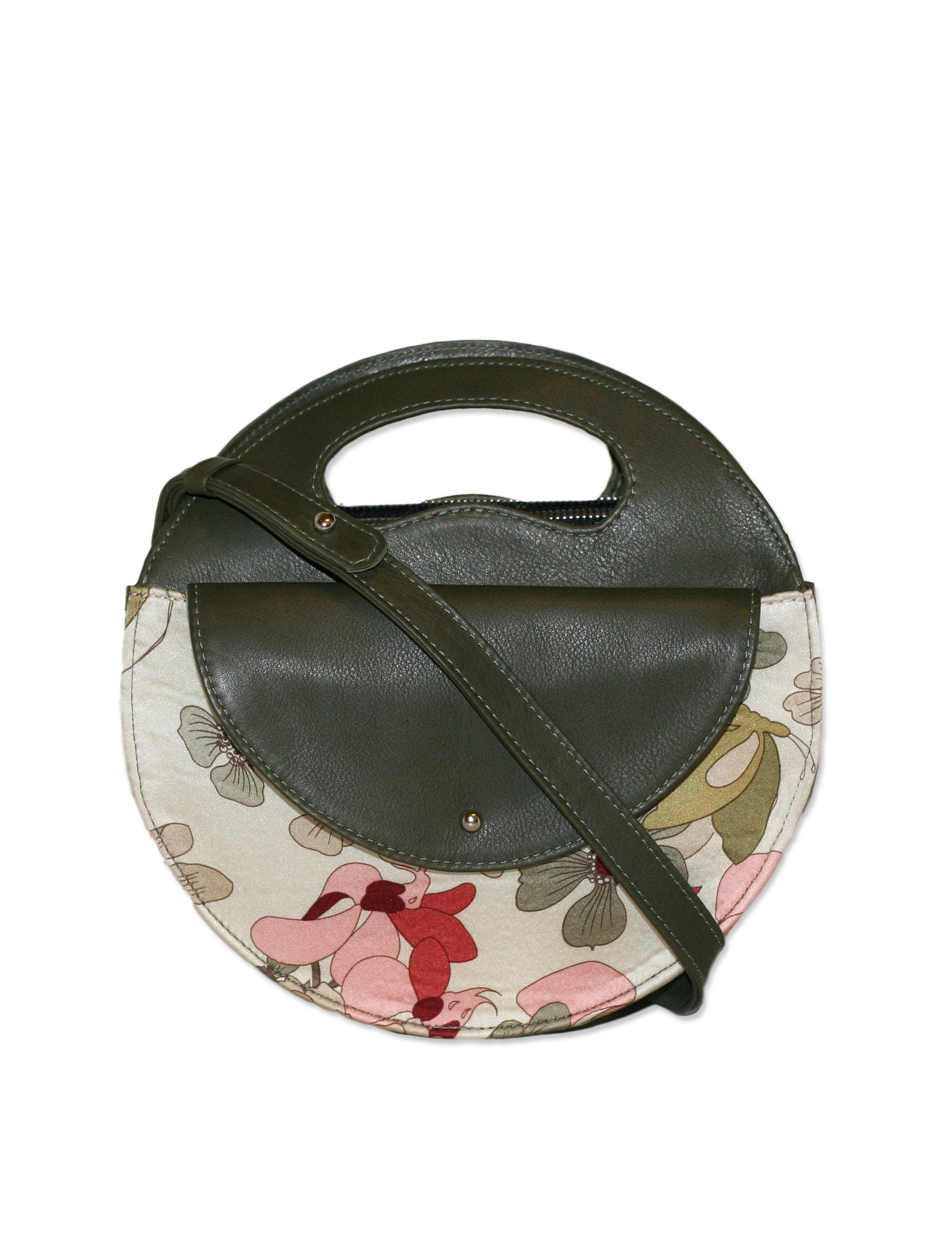 Moon Bag / Retro Floral in Moss