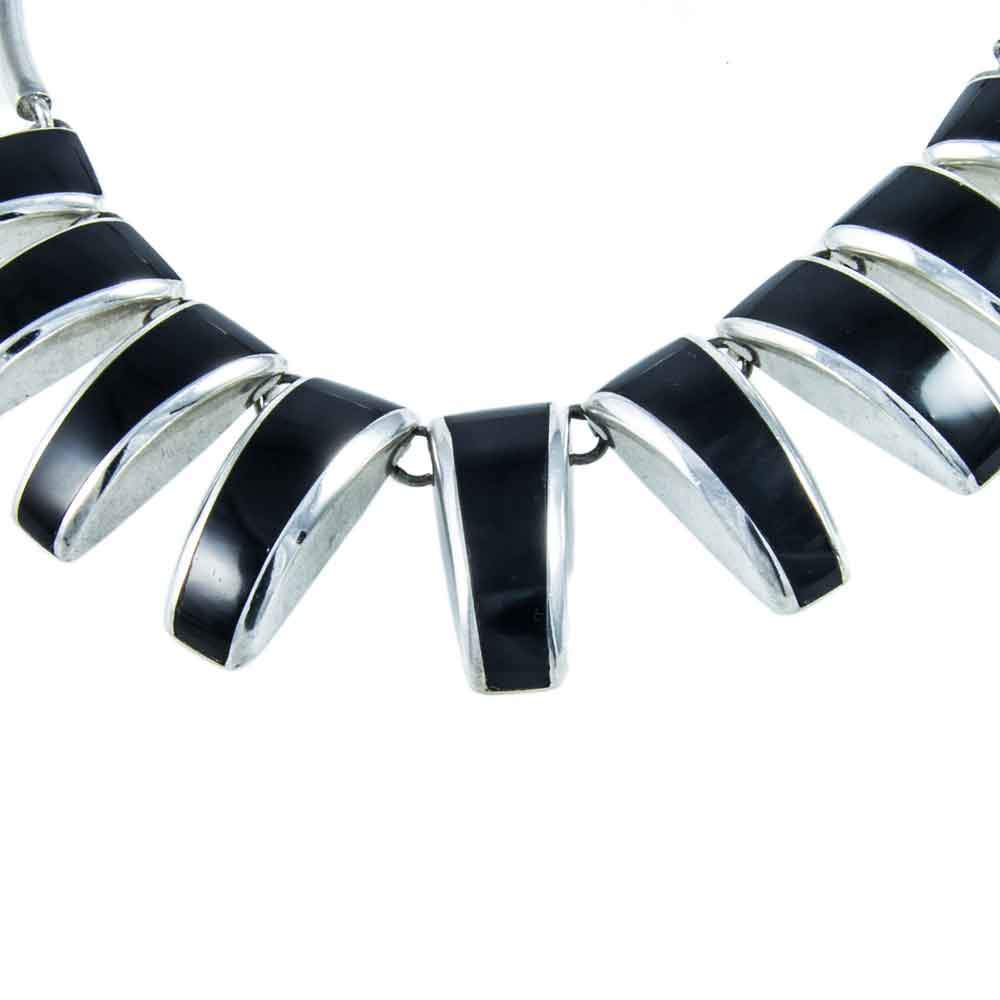 Vintage mexican sterling silver black onyx necklace jewellery hound necklaces vintage mexican sterling silver black onyx necklace mozeypictures Choice Image