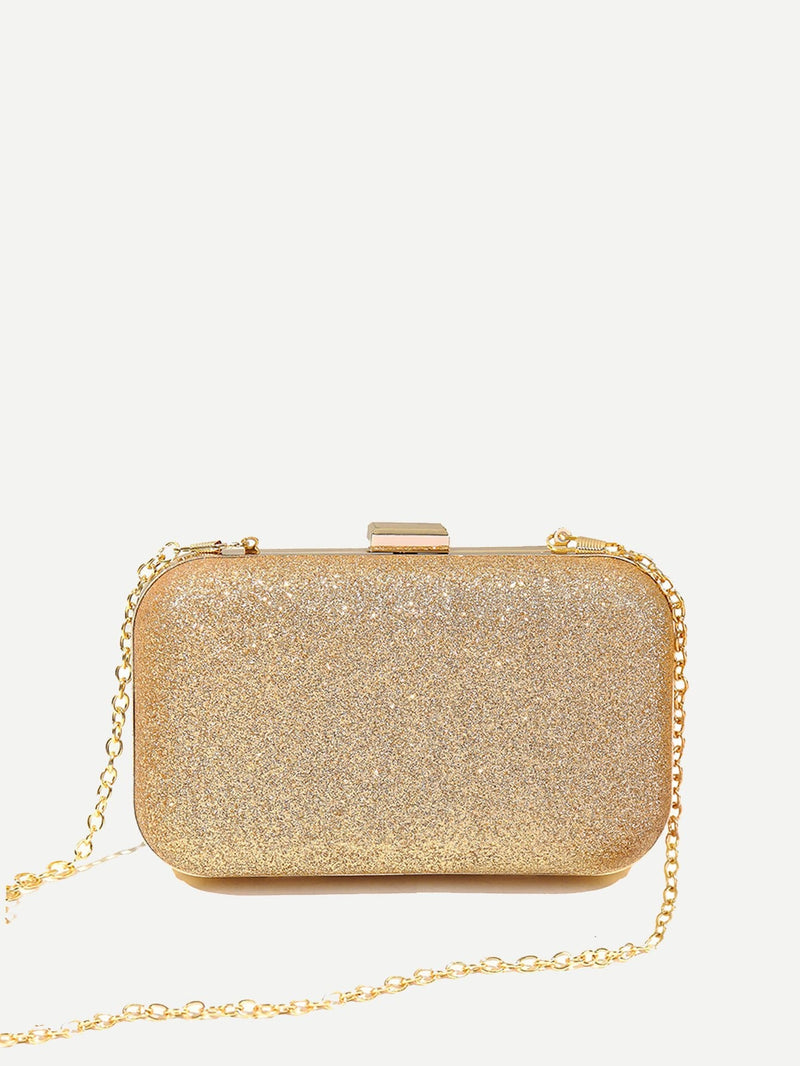 Elegant Gold Abendmode & Clutch