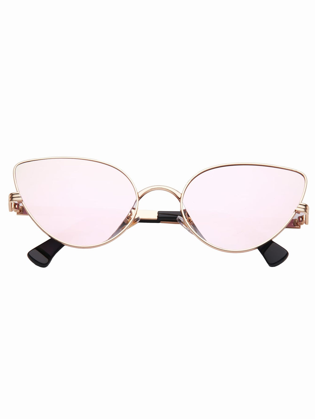 Cat Eye Metallrahmen Sonnenbrille