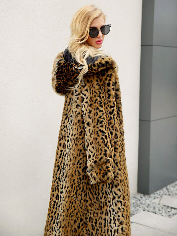 Hoodie Outerwear mit Leopard Muster