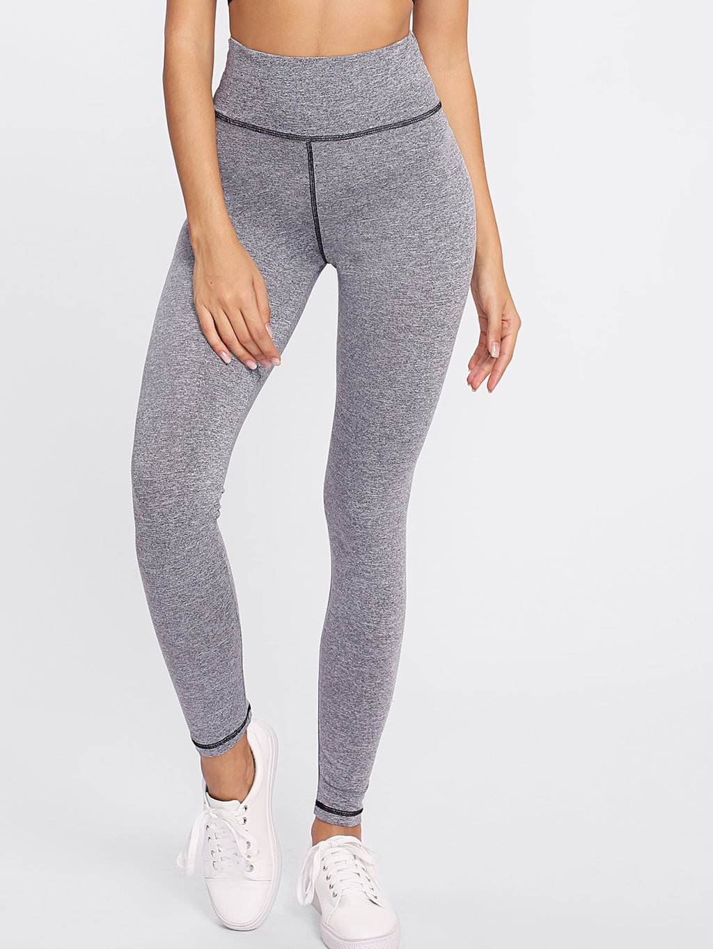 Strick Leggings mit hoher Taille