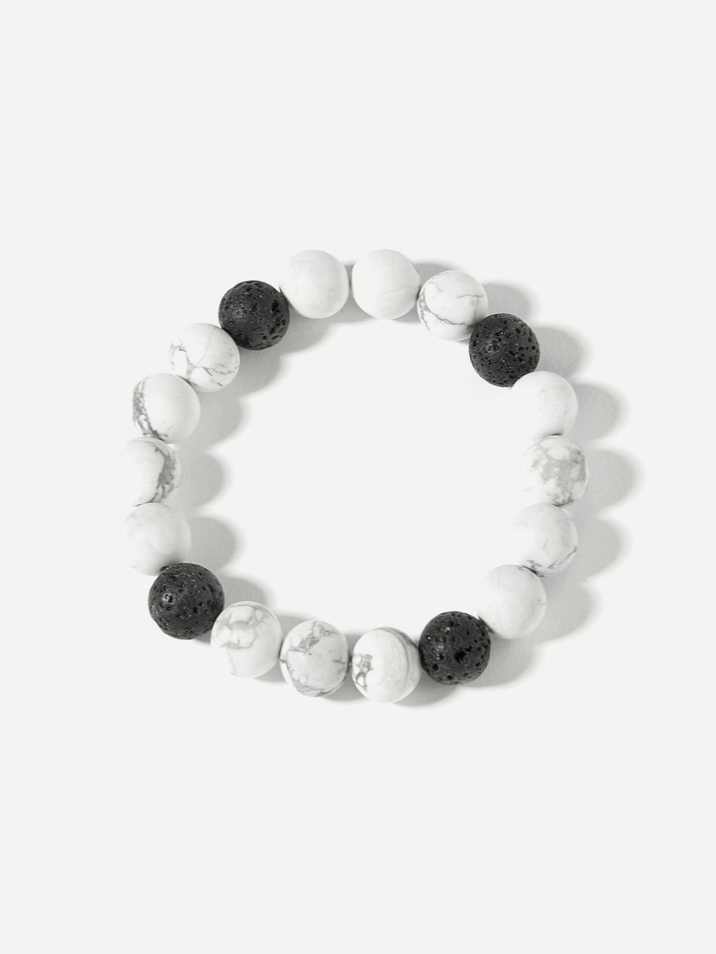 Zweifarbiges Beads Armband mit Marmormuster