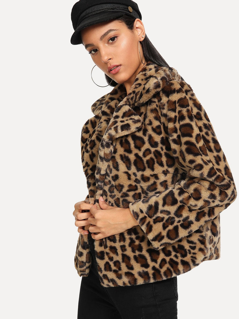 Outerwear mit Leopard Muster