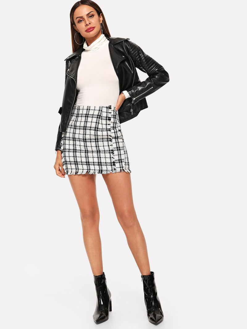 Rock mit Plaid