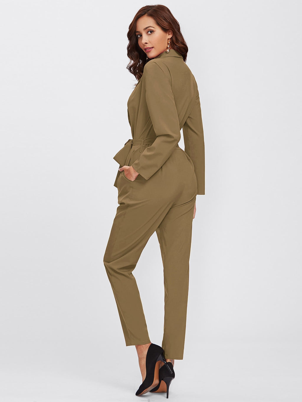 Jumpsuit mit Band Detail