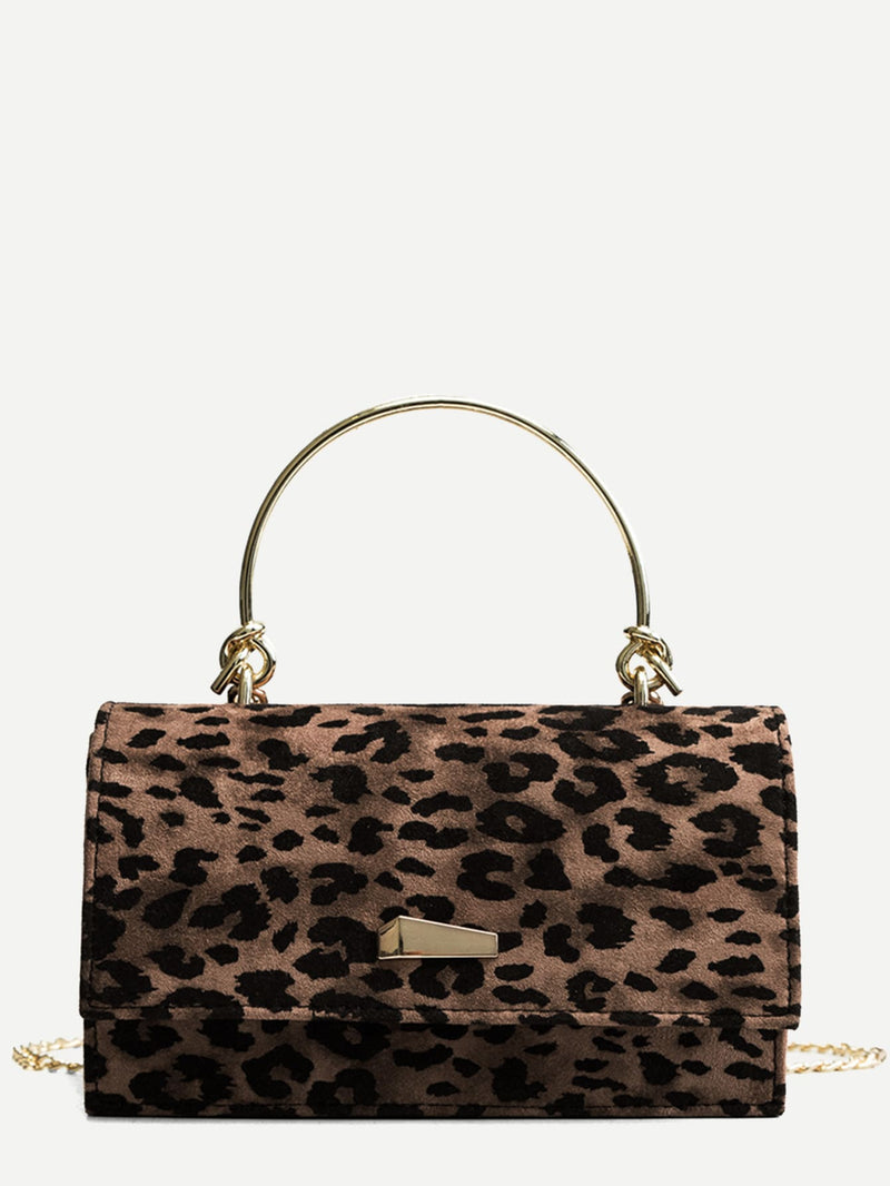 Leopardenmuster Satchel Chain Bag