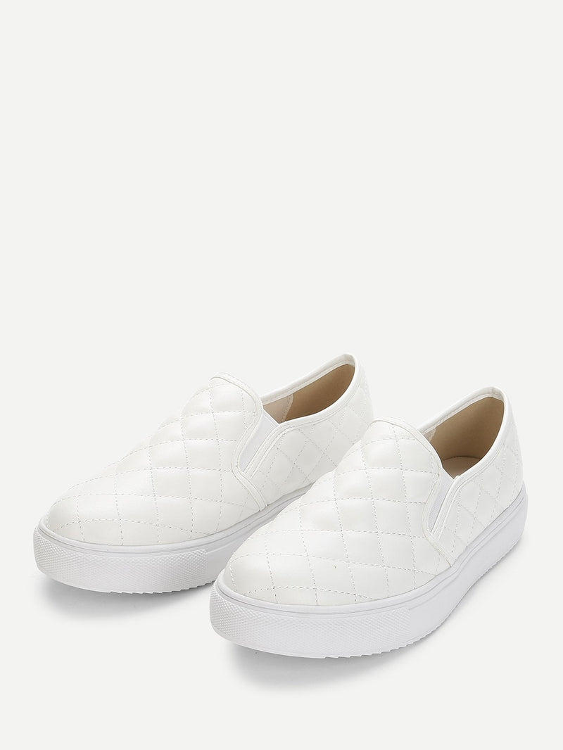 Gesteppte Slip on Sneakers