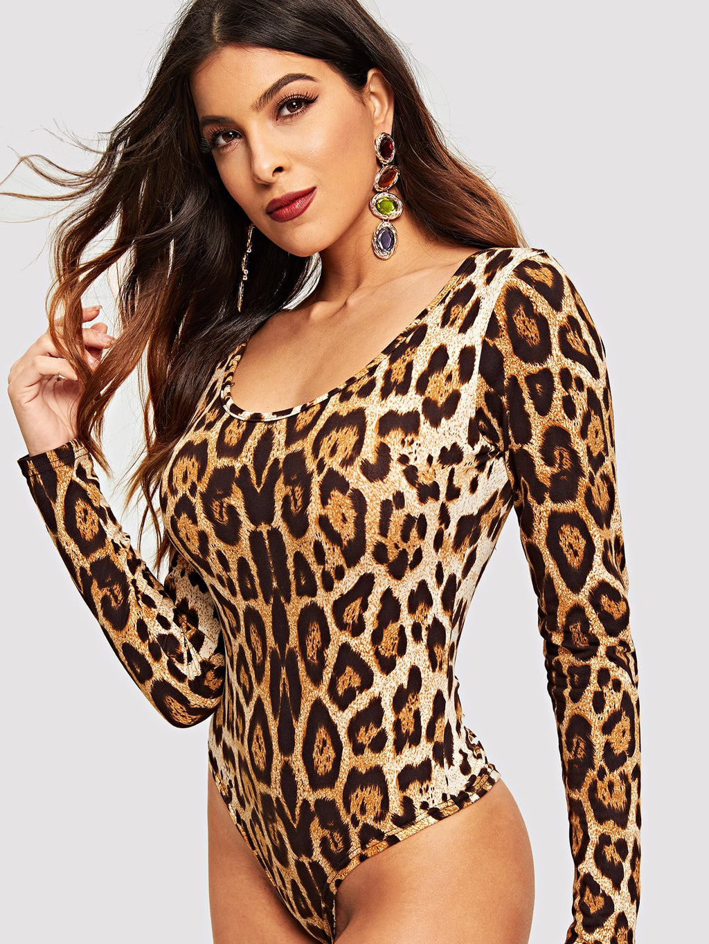 Body mit Leopard Muster
