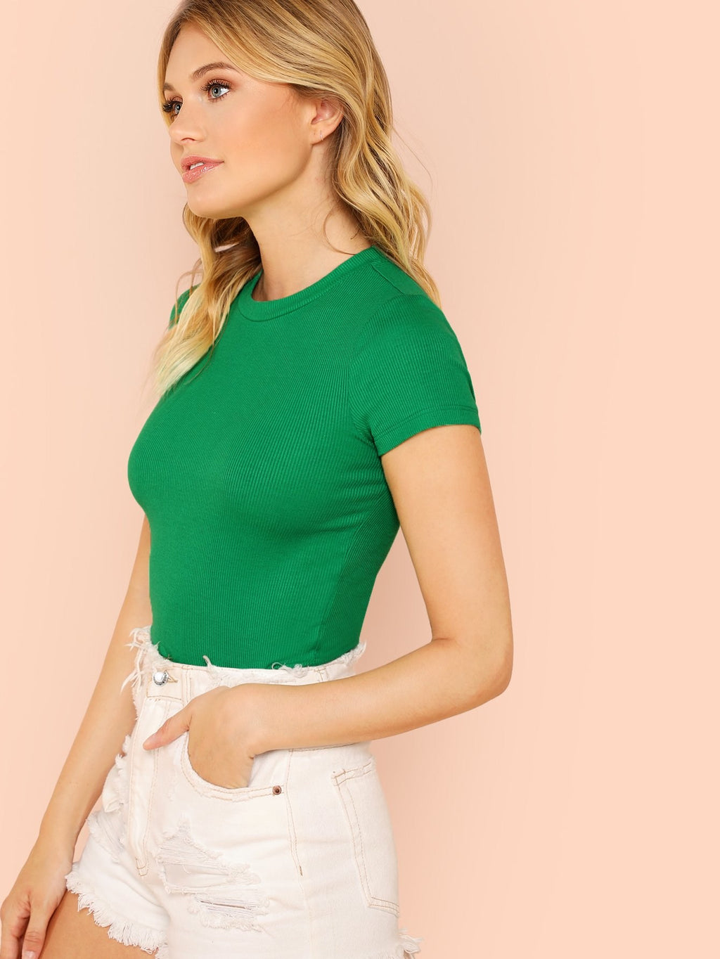 Strick Crop T-Shirt