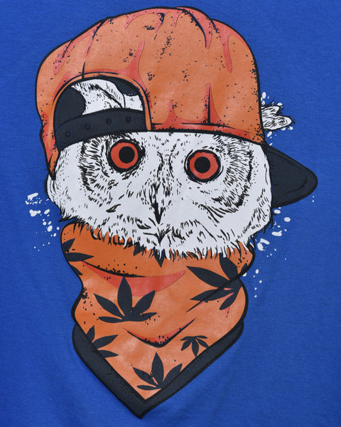 Cool Owl - Blue Oversized T-shirt for Women