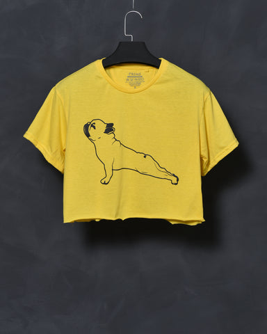 Yoga Dog - Yellow Top for Women