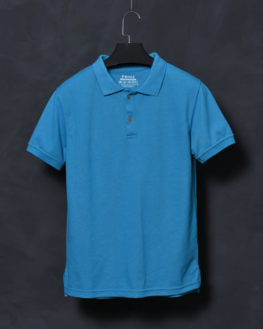 Turquoise Polo T-shirt for Men