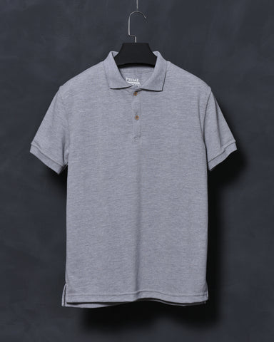 Heather Grey Polo T-shirt for Men