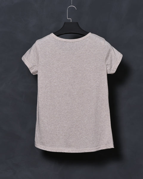 Beige Fit T-shirt for Women