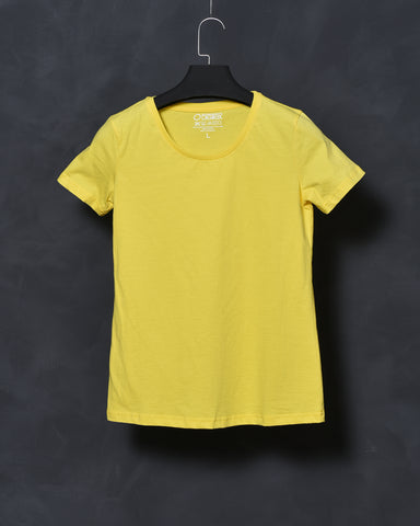 Yellow Fit T-shirt for Women
