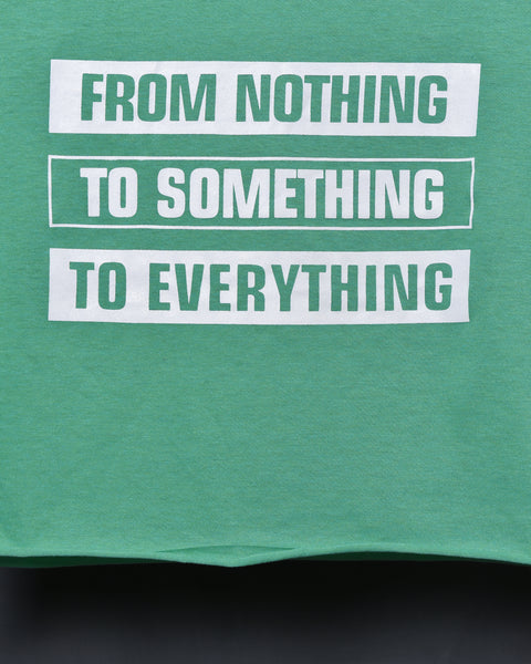 From Nothing To Something To Everything -Tropical Green Top