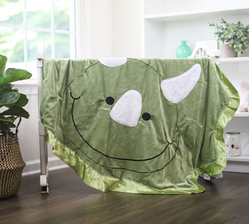 Large Chomp the Dinosaur Happy Blankie