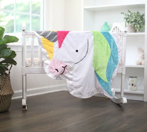 Confetti the Unicorn Happy Blankie (3 Sizes Available)