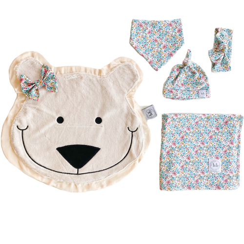 Blizzard Blue Bloom Swaddle Set