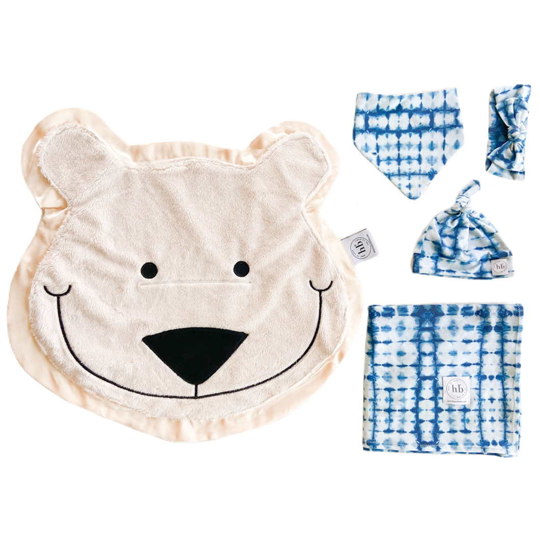 Blizzard Indigo Tie-Dye Swaddle Set