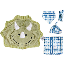 Chomp Indigo Tie-Dye Swaddle Set
