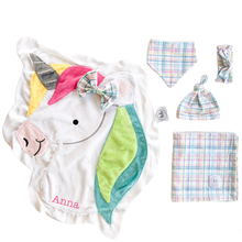 Confetti Pastel Plaid Swaddle Set