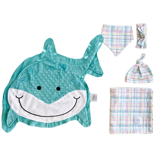 Finn Pastel Plaid Swaddle Set