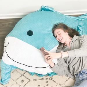 Finn the Shark Floor Pillow