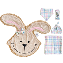 Hop Pastel Plaid Swaddle Set