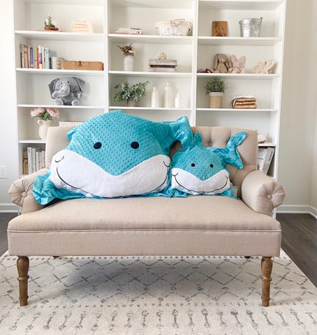 Finn the Shark Happy Pillow