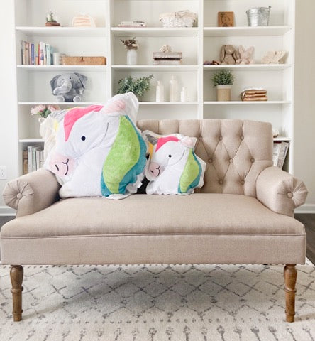 Confetti the Unicorn Happy Pillow