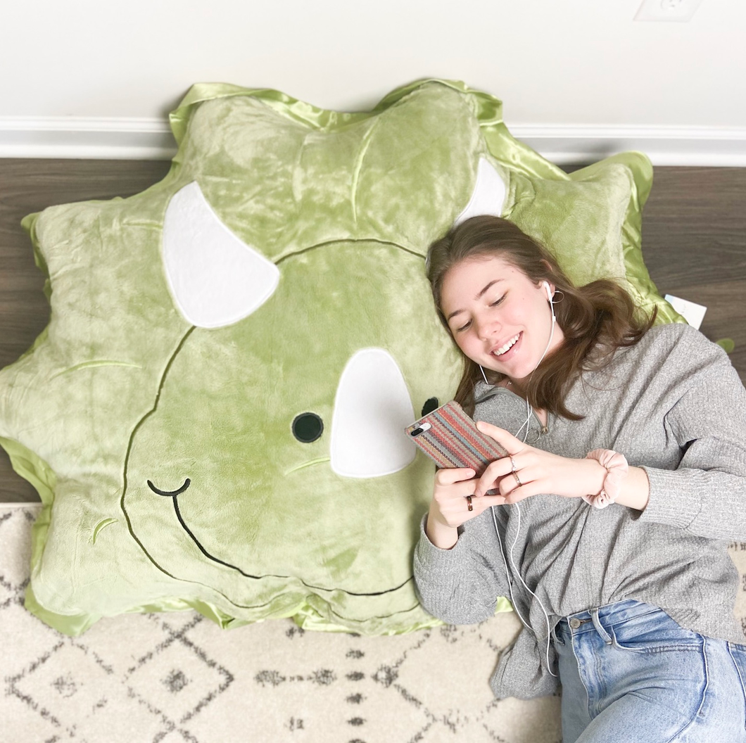 Chomp the Dinosaur Floor Pillow