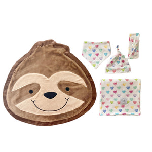 Snooze Watercolor Hearts Swaddle Set