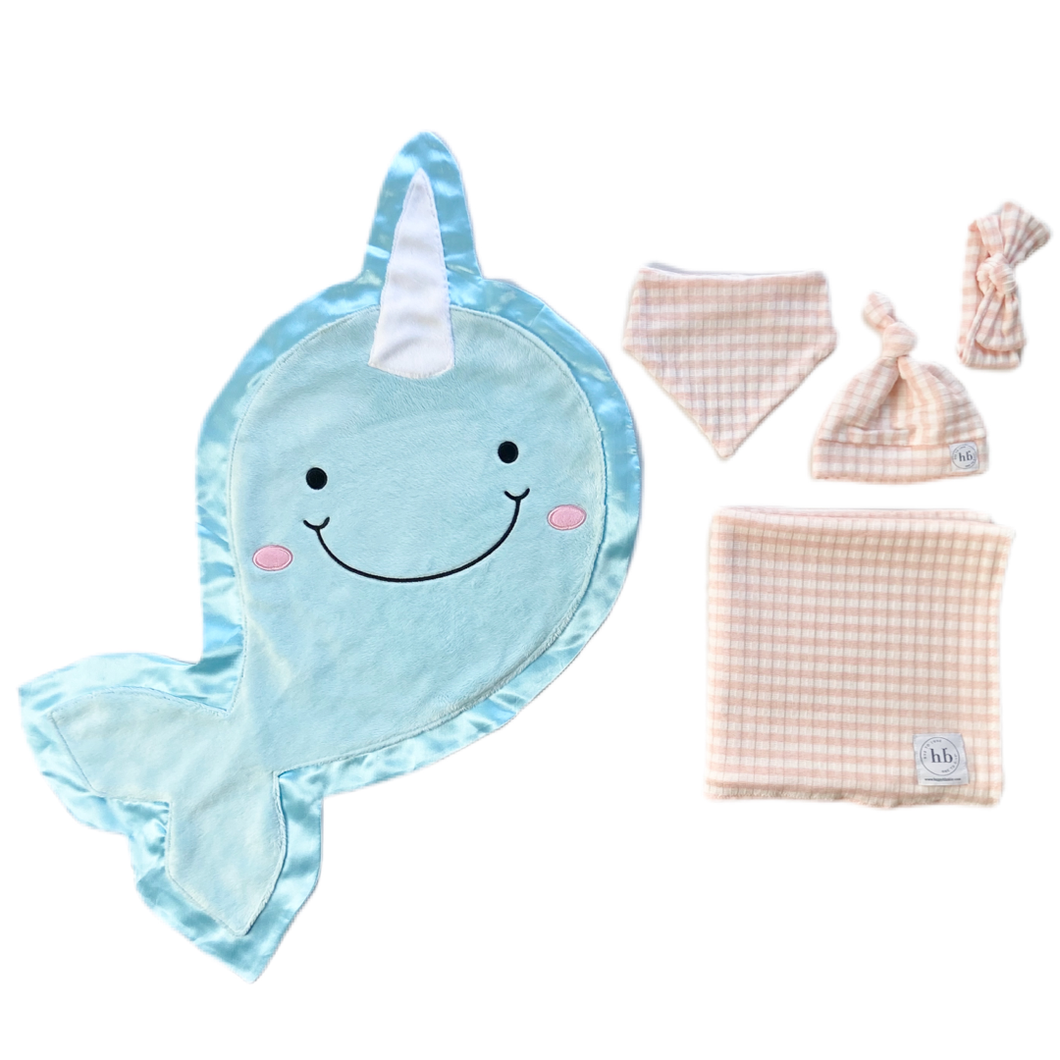 Echo Ballerina Pink Check Swaddle Set